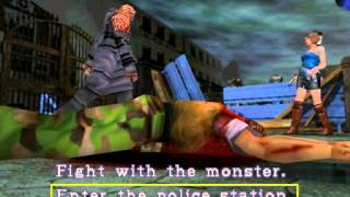 Resident Evil 3: Nemesis cutscenes - Jill escapes to the Police Station (alternate)  [Jill, Nemesis]