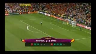Spain vs. Portugal Penalty Shootout Euro 2012 Semi Final