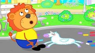 Lion family Rainbow Cartoon for Kids