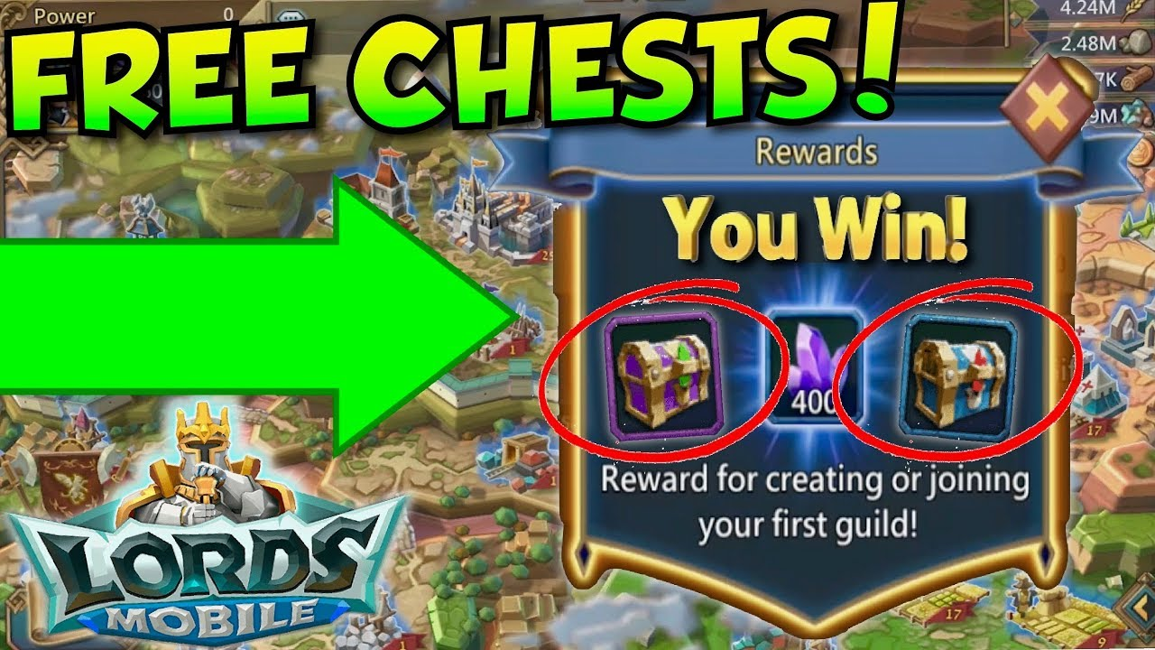 Lords Mobile How To Get Free Chests And Boosts No Hack Cheat Exclusive Voucher Map 100