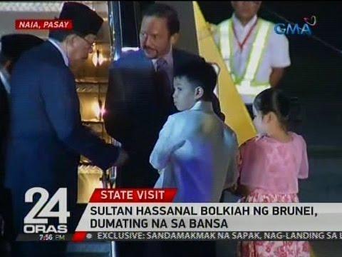 24 Oras: Sultan Hassanal Bolkiah ng Brunei, dumating na sa bansa