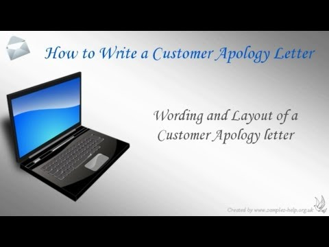 How To Write A Customer Apology Letter