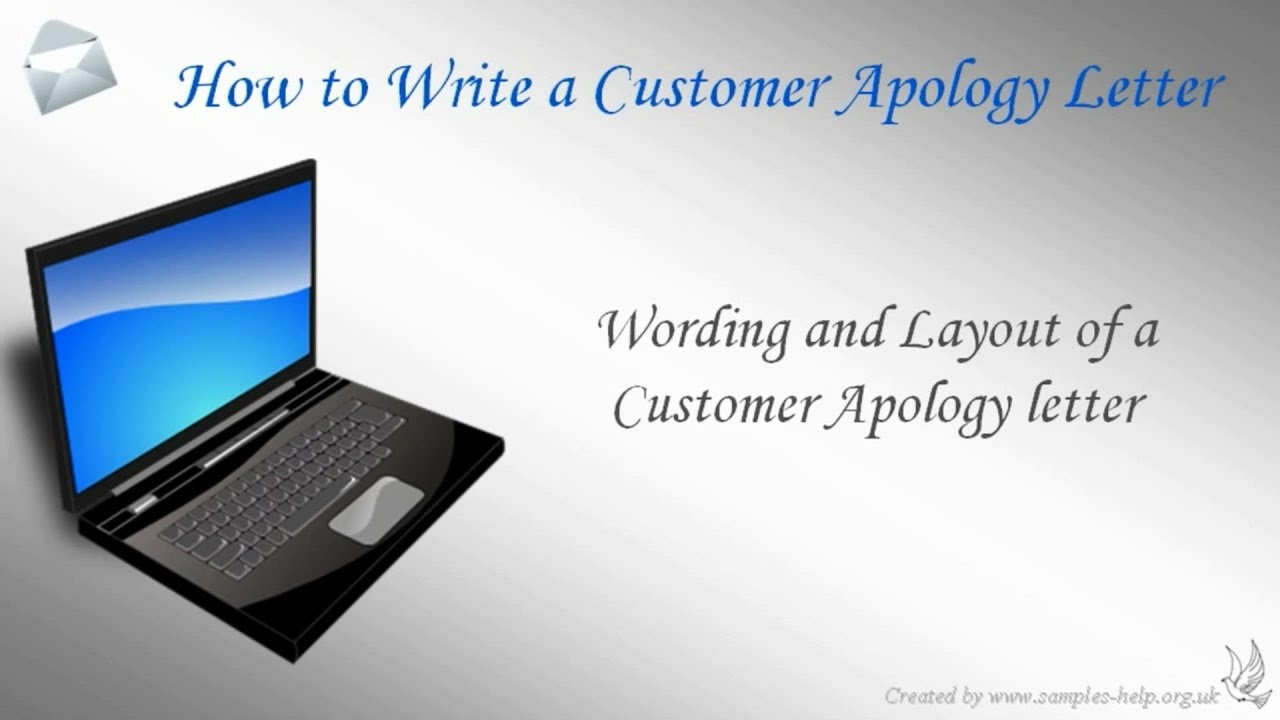 How to write a Customer Apology Letter YouTube