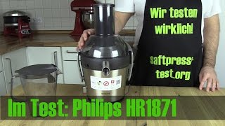 Philips HR1871/10 im Entsafter Test