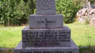 Lady Ashmore Celtic Cross Gravestone Drimmie Scotland