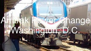 Amtrak Power Change, Washington, D.C.