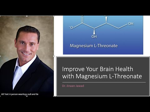 Magnesium L-Threonate For Brain Health.