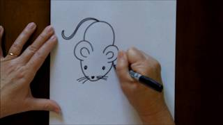 How to Draw a Mouse Cartoon Easy Drawing Lesson for Kids