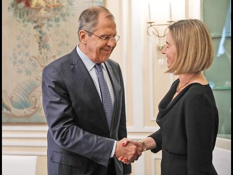 С.Лавров и Ф.Могерини   Sergey Lavrov and Federica Mogherini on Munich Security Conference sidelines