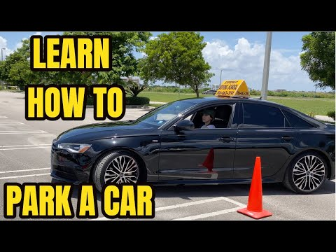 HOW TO PARK A CAR IN A PARKING SPACE FOR BEGINNERS