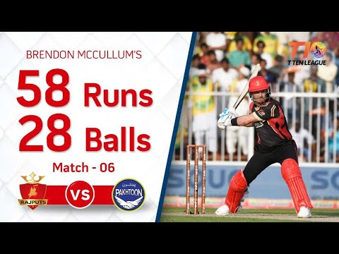 Brendon McCullum's gutsy 58 from 28 balls