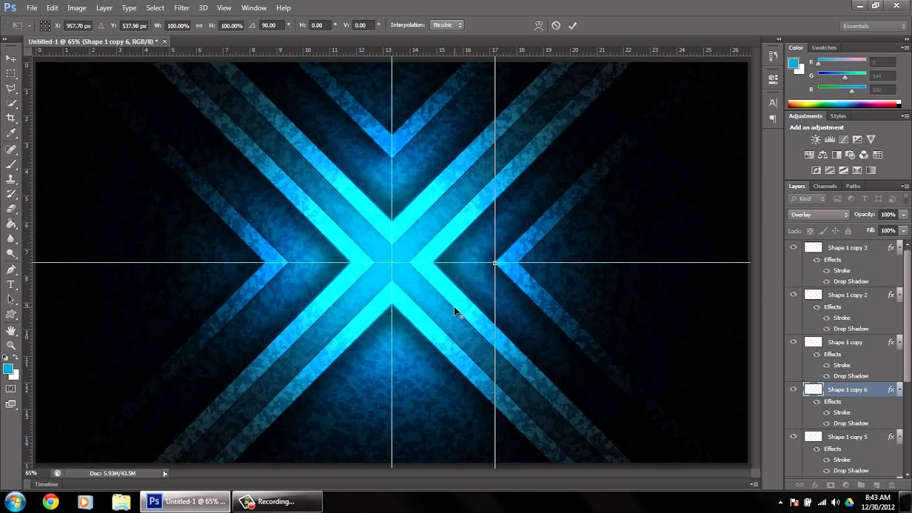 Awesome Abstract Glowing Wallpaper [Photoshop CS6 Tutorial] -HD ...