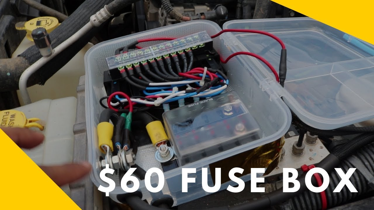 $60 lunchbox diy fuse box - youtube  youtube