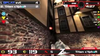 quake Live 125 FPS March League 2014 Grand Final - cypher vs. evil
