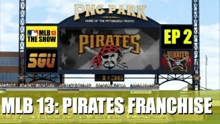 MLB 13 The Show - Pittsburgh Pirates Franchise - EP2 (Opening Day vs Cubs)