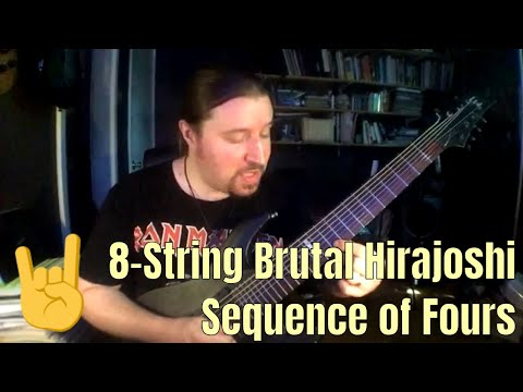 8-String Brutal Hirajoshi Sequence of Fours: ShredMentor Challenge of the Day #85