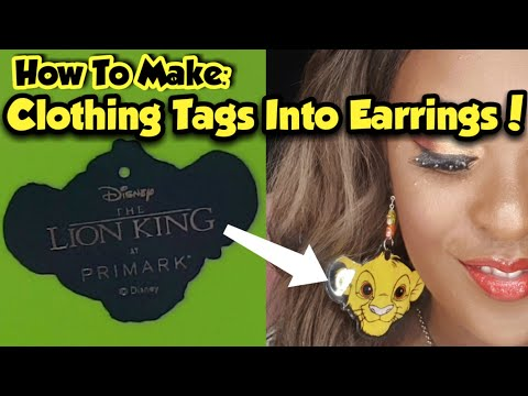 How To Make Earrings From Clothing Tags! | Doming Photos With UV Resin | Lion King Earrings!
