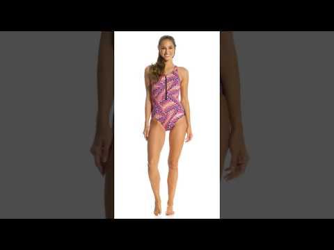 dolfin-aquashape-women's-printed-zip-front-one-piece-swimsuit-|-swimoutlet.com