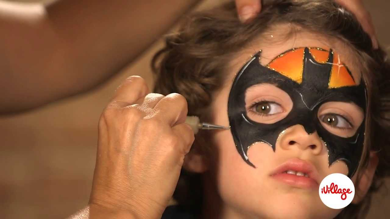 How To Do Batman Face Paint For Kids You
