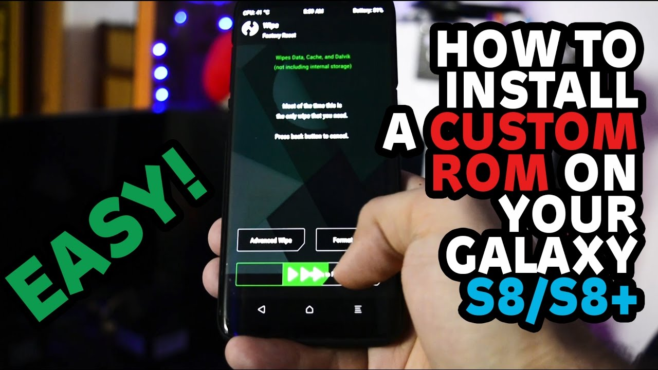 How to flash a CUSTOM ROM on your Galaxy S8/S8+   #TheMoreYouKnow Ep 3