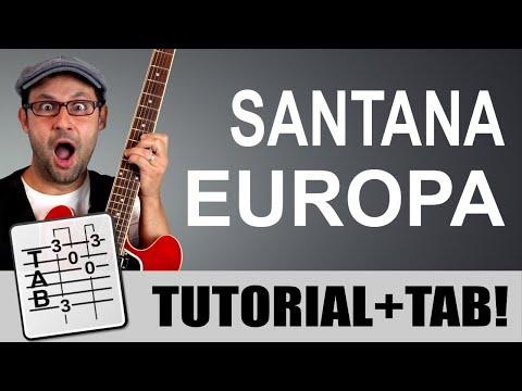 Europa - Santana - Tutorial chitarra - Lezione