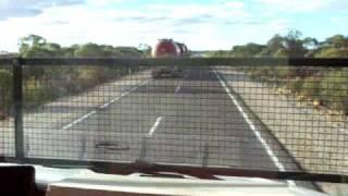 Double roadtrain Over taking a Linfox triple roadtrain