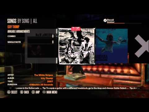 Rocksmith Track List HD