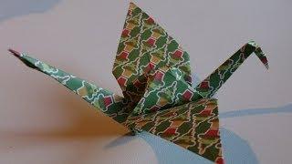Origami ! La Grue Traditionelle.