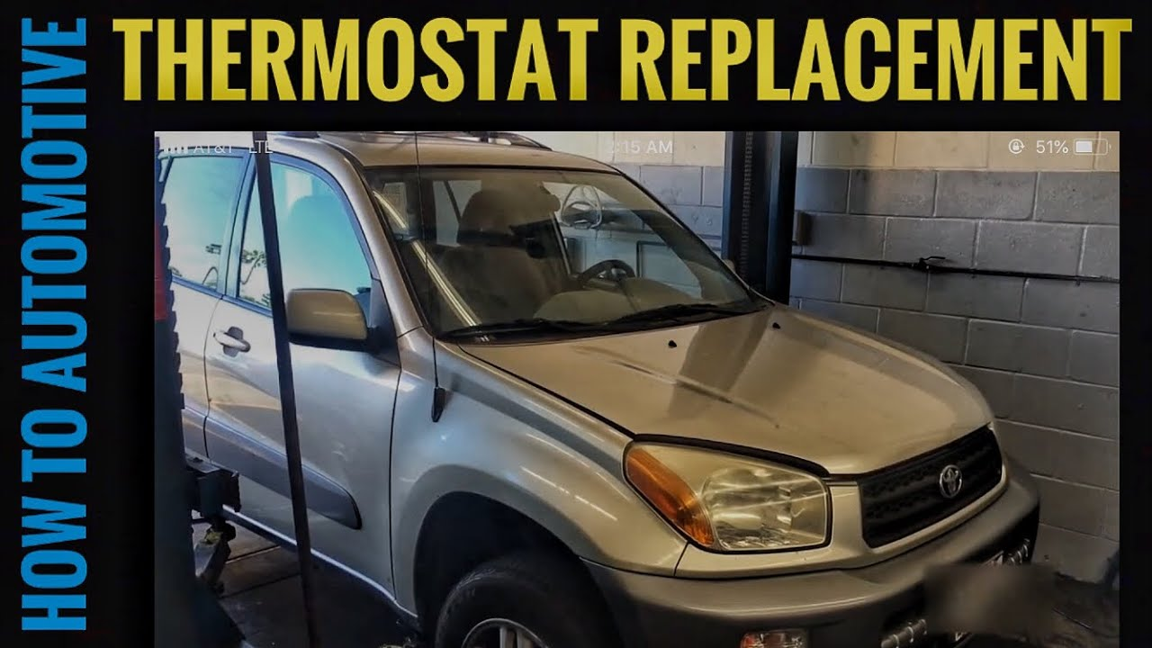 How To Replace The Thermostat On A 2001 Toyota Rav4 Youtube Wiring Diagrams 2002 Rav4l Premium