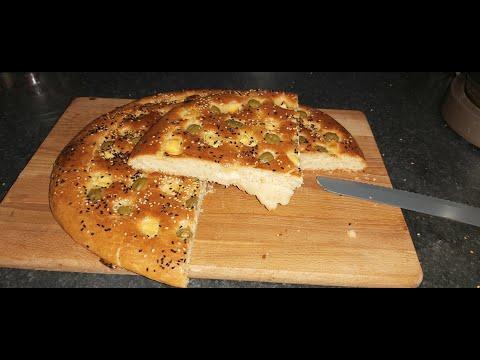 recette-pain-olive-et-fromage-sans-pétrissage