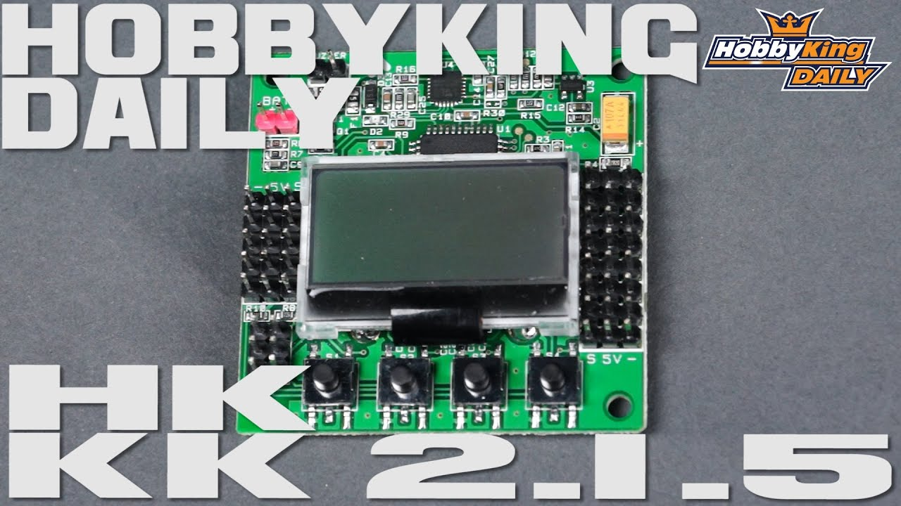 hobbyking kk2 1 5 multi rotor lcd flight control board with 6050mpu and atmel 644pa [ 1280 x 720 Pixel ]
