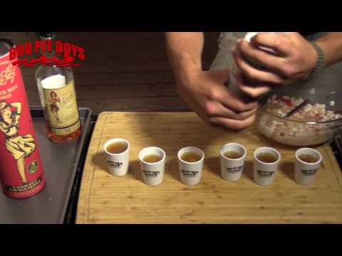 Ceviche Rum Shots by the BBQ Pit Boys