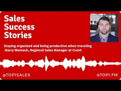 Cvent's Top Enterprise Sales Rep Barry Womack on Staying Organized While Traveling