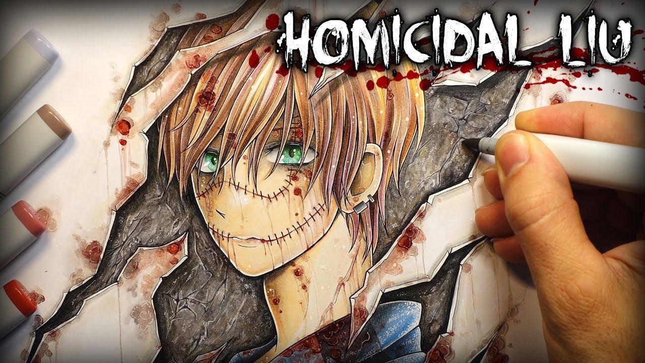 Quot Homicidal Liu Quot Horror Story Creepypasta Drawing Youtube