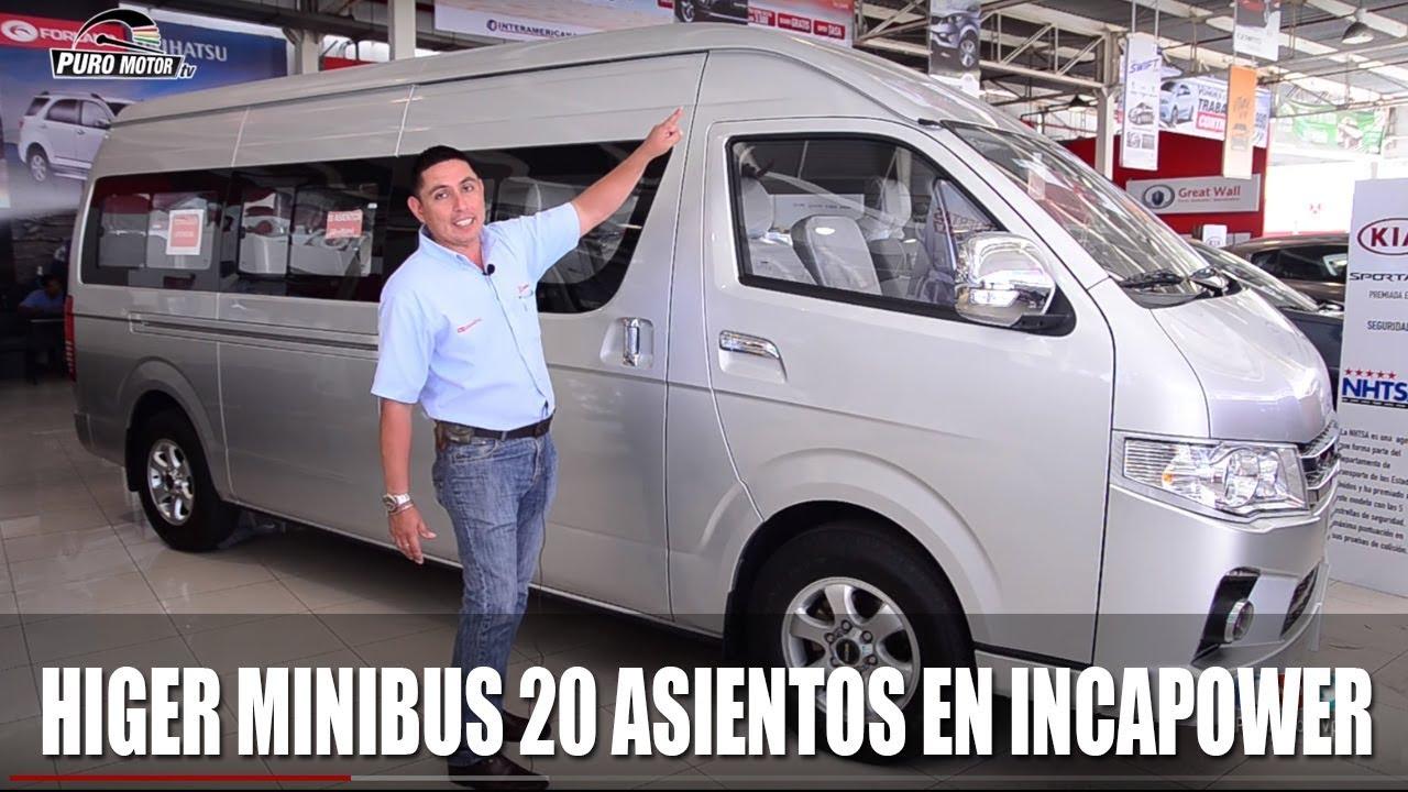 Higer Minibus 20 Asientos Incapower Puromotortv Pe Youtube
