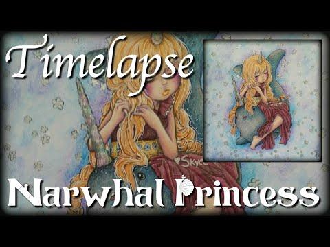 Timelapse - Coloring In Camilla D'Ericco's Adult Coloring Book - Pop Manga Mermaids ♥