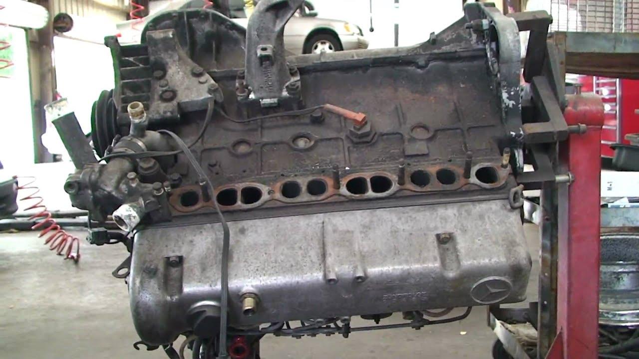 Mercedes Turbo Diesel OM617 On Engine Stand