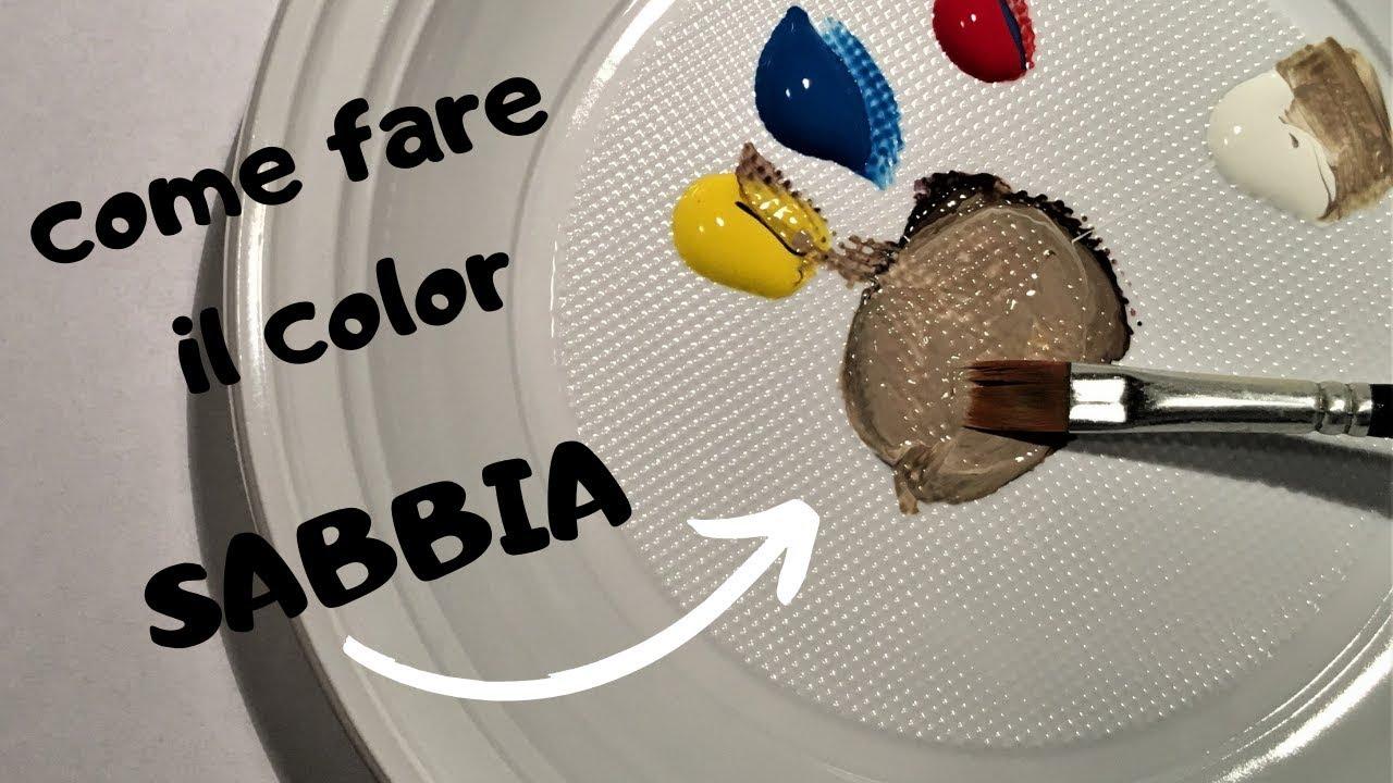 Composizione Del Colore Tortora come fare il color sabbia - tutorial