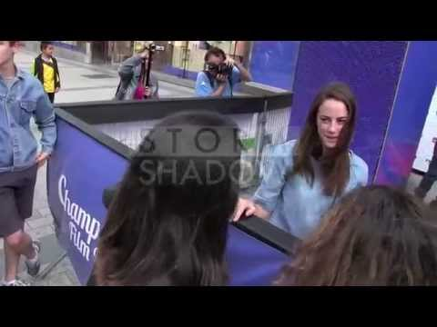 Kaya Scodelario CRIES because a fan is crying for her in Paris