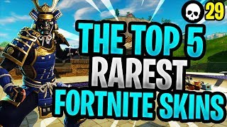The Top 5 RAREST Skins In Fortnite HISTORY! (Fortnite Battle Royale Rare Skins)