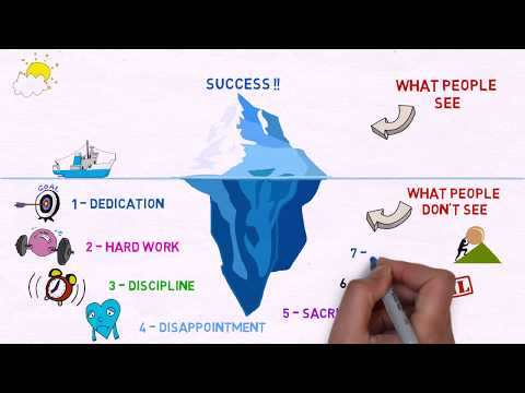 Success is an iceberg by DINIAEVENTS