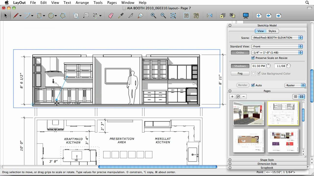 Sketchup 8 drafting in layout youtube for Free online room planner no download
