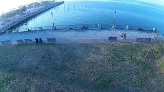 Drone flight over Canarsie pier, Brooklyn NY.