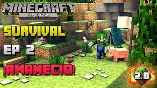 Minecraft PSP | Survival | Episodio 2 | ¡Amaneció! | Loquendo | HD | luigi2498