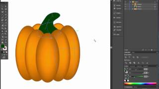 How to draw pumpkin in Adobe illustrator. Easy halloween tutorial with gradient mesh.