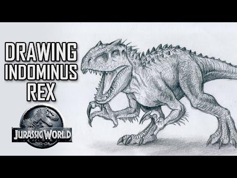 Indominus Rex vs Ankylosaurus Part 2 Drawing Ankylosaurus by Beanie ...