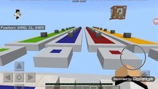 سباق اللكي بلوك | Minecraft Lucky block Racing