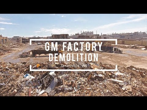 Drone Video Of Gm Assembly Plant Demolition In Janesville