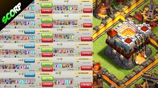 TOP 5 TH11 Funny Fails + Replays /COC Town Hall 11 Trophy Base Legend League  -Clash Of Clans r