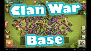 **NEW** Best Clash Of Clans WAR BASE Layout - TownHall 7 (TH7) - Speed Built 2014